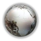 Africa on metallic Earth Royalty Free Stock Image