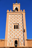 in   africa minaret and the     sky Royalty Free Stock Photography
