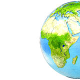 Africa on model of Earth Stock Photo