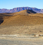 in   africa morocco the atlas valley dry mountain ground isolate Stock Photo