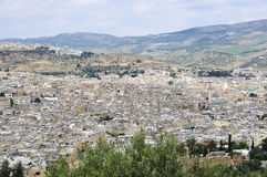 Africa, Morocco, king's town fez. Town view of fez in Morocco Royalty Free Stock Photo