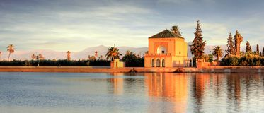 Africa - Morocco - Marrakesh. Nice view of the Menara, in the center of Marrakesh Royalty Free Stock Photography