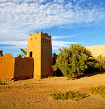 Africa in morocco the old contruction and the historical village Royalty Free Stock Photos
