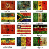 Africa most important old flags Royalty Free Stock Images