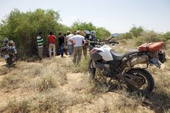 Africa motorbike expedition Royalty Free Stock Images
