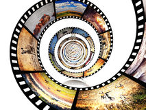 Africa movie. 3d image of film strip with african animals Royalty Free Stock Photo