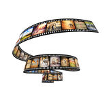 Africa movie. 3d image of film strip with african animals Stock Images