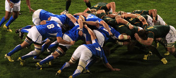 africa namibia rugbyscrum södra v Royaltyfria Bilder