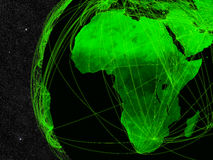Africa network Royalty Free Stock Photography