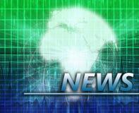 Africa News splash screen Stock Photography