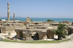 africa nordliga carthage fördärvar tunisia Royaltyfri Bild