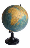 Africa on an old globe Royalty Free Stock Photo