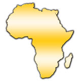 Africa outline map. Outline map of Africa covered with gradient Royalty Free Stock Images