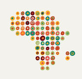 Africa - patterned map Stock Photos