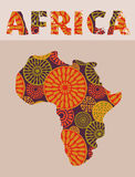 Africa - patterned map Royalty Free Stock Photography