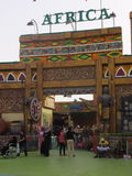 Africa pavilion at Global Village in Dubai, UAE Royalty Free Stock Photos
