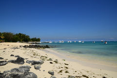 Africa, picturesque area of La Pointe Aux Canonniers in Mauritiu Stock Image