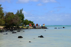 Africa, picturesque area of La Pointe Aux Canonniers in Mauritiu Royalty Free Stock Photo