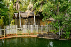 Africa, picturesque area of La Pointe Aux Canonniers in Mauritiu royalty free stock photography