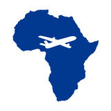 Africa and the plane Royalty Free Stock Photography