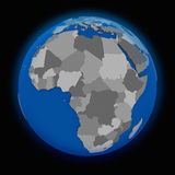 Africa on political Earth Stock Image