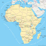 Africa political map Royalty Free Stock Images