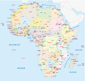 Africa political map Stock Photos