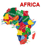 Africa Political Map. Illustration of Africa Political Map 3D royalty free illustration