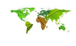 africa pomoc liść mapy tekstury świat Obrazy Stock