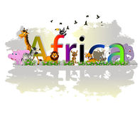 Africa poster background with animal wildlife Royalty Free Stock Image