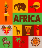 Africa - poster and background Stock Photo
