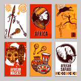 Africa Poster Set Stock Images