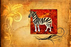 Africa retro vintage style Royalty Free Stock Images