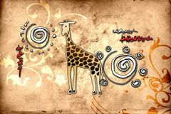 Africa retro vintage style Royalty Free Stock Photography