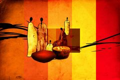 Africa retro vintage style Stock Images