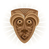 Africa.Ritual mask made of wood Stock Images