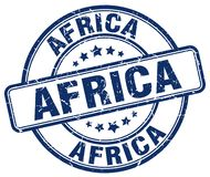 Africa stamp. Africa round grunge stamp isolated on white background. Africa