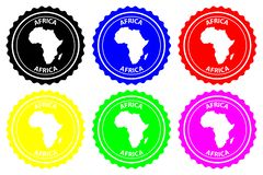 Africa rubber stamp royalty free illustration