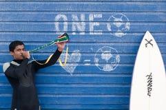 africa södra vuvuzelamania Arkivfoton