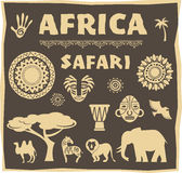 Africa, Safari icon and element set Stock Photo