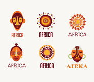 Africa, Safari icons and element set Stock Photography