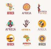 Africa, Safari icons and element set stock illustration