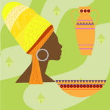 Africa Safari set vector icons. Ritual objects Royalty Free Stock Image
