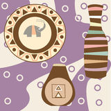 Africa Safari set vector icons. Ritual objects Stock Photography