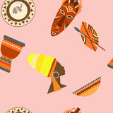 Africa Safari set vector icons. Ritual objects and traditional Stock Photography