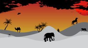Africa, Safari, Tree, Wild Animals. Vector Royalty Free Stock Photography