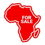 Africa is For Sale. Privatization of country and foreign investment into African industry. Investors from abroad own business in the continent. Vector Stock Image
