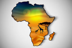 Africa, savannah fauna and flora Royalty Free Stock Images