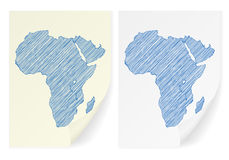 Africa scribble map Stock Image