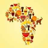 Africa seamless pattern Stock Photography